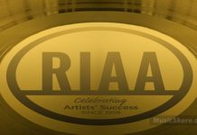 RIAA gold plate - Music Shore