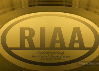 RIAA gold plate - Music Shore